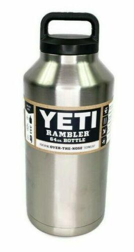 YETI 64 OZ RAMBLER STAINLESS STEEL WATER THERMOS BOTTLE W/LID YRAMB64 RETIRED