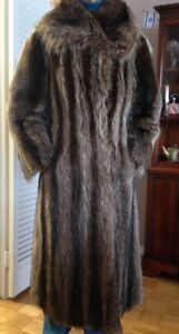 Racoon Coat - LONG and LUXURIOUS - Full Length