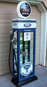 KUSTOM FORD DISPLAY CABINET, GAS PUMP, VINTAGE GAS. PETRO