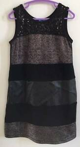 Girls Size 7 black evening dress with sparkle detail Curl Curl Manly Area Preview