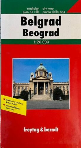Map of Belgrade, Serbia, by Freytag & Berndt