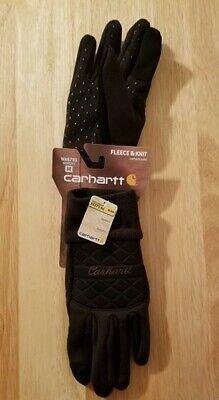 Women's Carhartt Gloves Black Size Medium Fleece & Knit Brand new in orig pkg Carhartt Knit Glove