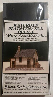 Micro-Scale Models -  Railroad Maintenance Office  #102  HO SCALE