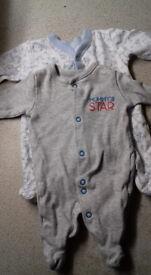 Tiny Baby Sleepsuits UNISEX OR BOYS