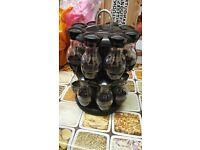Carousel 2 tier spice rack (16 bottles)