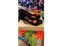 Ladies Next shoes size 6.5 boxed Black Patent