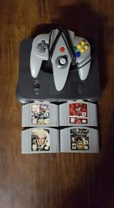N64 with 4 games