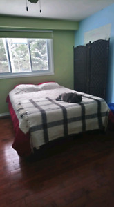 Queen bed for sale w/matress and box