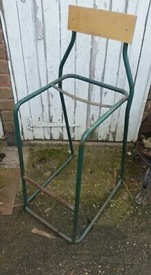 Vintage Metal high bar stool with back, frame only