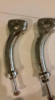 6 inch Handle bar risers Chrome Duece Harley