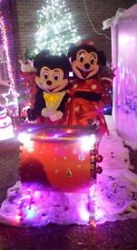 micky and mini mascot costume in derby