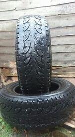 2 Pirelli Chrono Winter tyres 215/65R 16C
