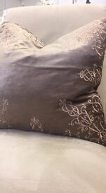 Parisian style decorative cushion- Taupe & Gold