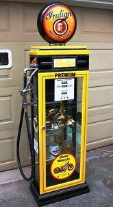 KUSTOM INDIAN MOTORCYCLE GAS PUMP DISPLAY CABINET