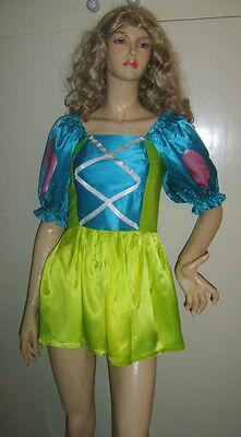 LADIES CUTE CINDERS CINDERELLA FAIRY TALE FANCY DRESS COSTUME SMALL 8-10 USED***
