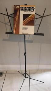 Music Stand and six music books for flute
