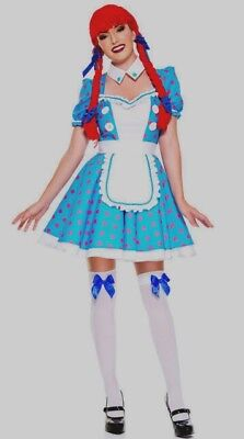 RAGGEDY ANN SEXY RAG DOLL Halloween Costume Fancy Dress Women NEW SZ X-SMALL XS