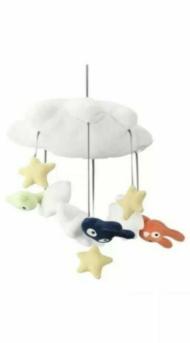 Ikea Himmelsk Baby Crib Mobile Plush White Multicolor Stars Cloud NEW