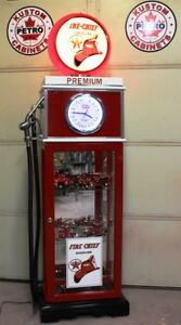 "Texaco Fire Chief ""CLOCK FACE"" gas pump display cabinet. Petro."