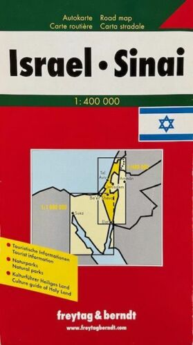 Map of Israel and Sinai, by Freytag & Berndt