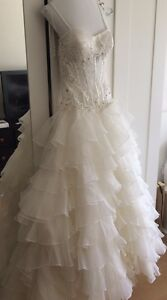 Eddy K Milano designer wedding dress with lace/train/corset