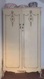 French antique style wardrobe and 2 bedside tables