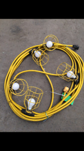 USED 50' and 100' JOBSITE STRING LIGHTS WITH LED BULBS!