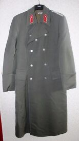 Army Great Coat Double Breasted Grey