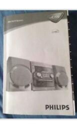 Phillips mini hi-fi system