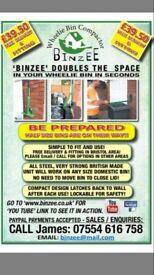 BINZEE - WHEELIE BIN COMPACTOR - DOUBLES THE USEABLE SPACE IN YOUR BIN