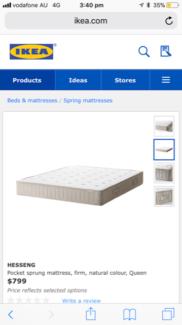 Queen Bed - Frame + Mattress