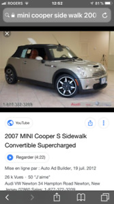 Mini Cooper convertible special edition,83000 Kms