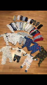 Baby Boy 0-3 Month Lot (55 pieces)