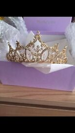 Swarovski Crystal Empress Gold Tiara