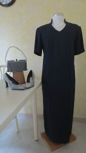 Navy Dress with shoes and purse (silver)