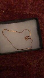 9ct gold bracelet lovely rose gold colour