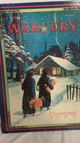 1980s SALVATION ARMY JIGSAW PUZZLE - UNOPENED 1924 WAR CRY CHRISTMAS COVER 18X24