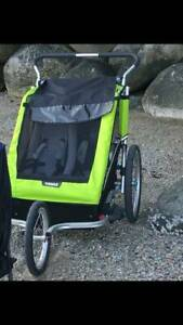 THULE DOUBLE STROLLER (Paid $800)