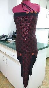 BRAND NEW-Spanish tango belly dance Show costume/dress/ tango