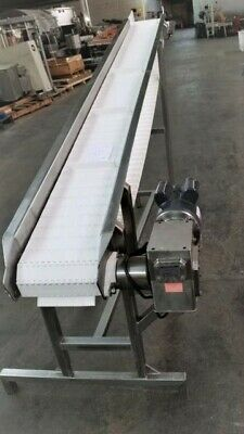 Stainless Steel Sanitary Incline Cleated Belt Conveyor 10 X 107
