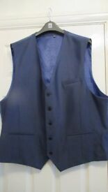 "William & Brown Blue waistcoat 54""R Worn Once"