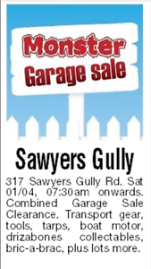 Combined Garage Sale Clearance 7:30am Saturday 1st April Sawyers Gully Cessnock Area Preview