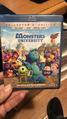 Monsters University Blu-Ray +DVD Collector's Edition Disney Pixar