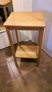 Wooden Tall Side Table