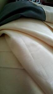 Brand new in pkg! Cream with grey stripe Faux Silk curtain ties