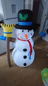4 foot inflatable snowman