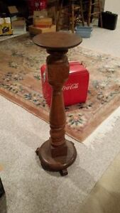 antique solid oak hand made stand