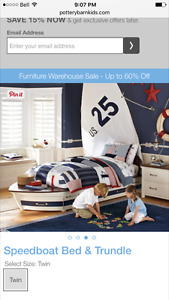 Pottery Barn Kids - Sail Boat Beds (twin)