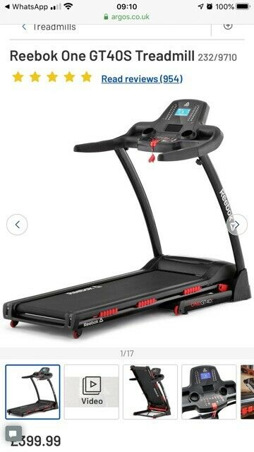 textura clara mujer 2019 auténtico Reebok One GT40S Treadmill, Only few months old | in Chatham ...
