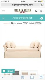 large single day bed/sofa bed in very light cream from High Fashion Home in USA